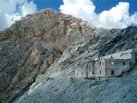 barracks below the summit...
