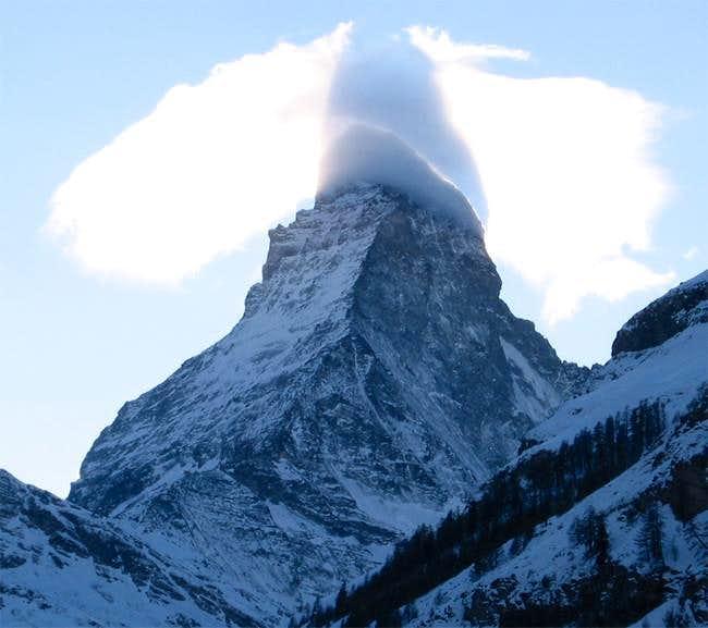 A funny cloud at the Matterhorn