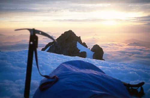 My solitary summit camp at...