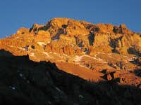 Aconcagua in the sunset, seen...