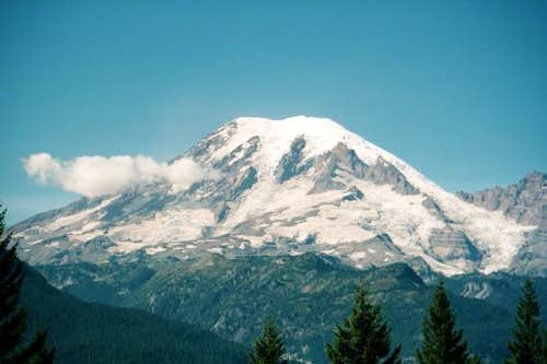 The Southeast Face of Rainier...
