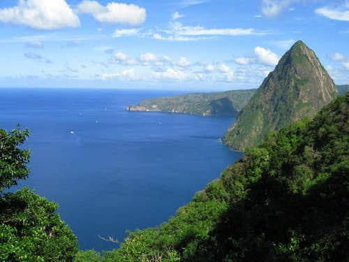 View of Petit Piton from Gros...
