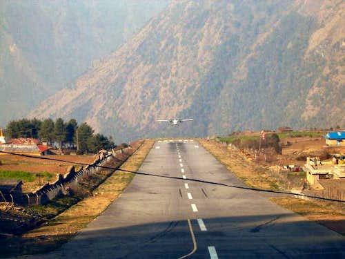 exciting landing at Lukla...