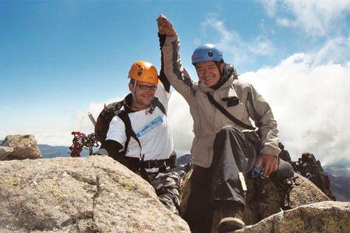 With Gordon (R) on the summit...