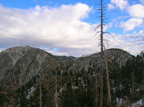 Timber Mountain(right) seen...