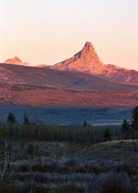Chief Mountain in the early...