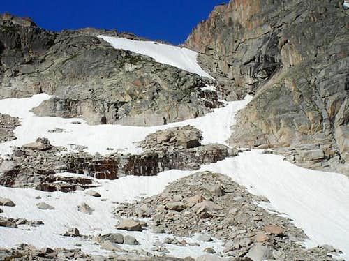 The Stoneman Pass gully...