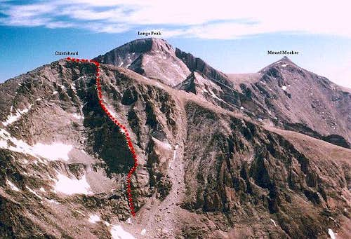 The Warbonnet Ridge from...