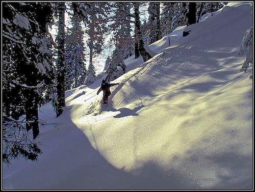 My wife Jasmina skiing