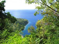 View of caribbean from Gros...