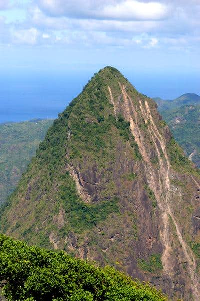 Petit Piton as seen from the...