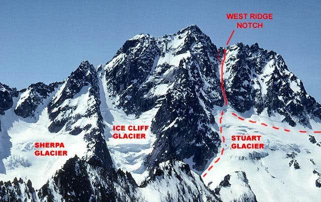 Stuart Glacier Couloir Route , Mount Stuart