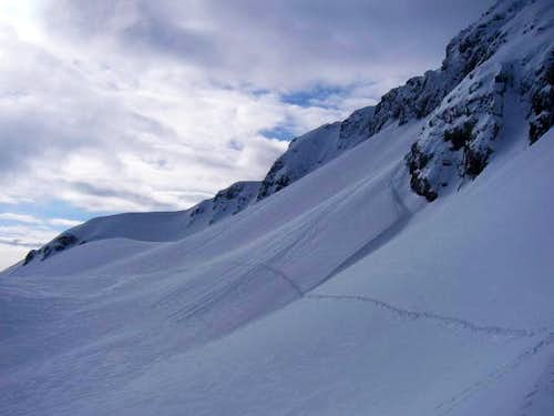 The easy traverse from the...