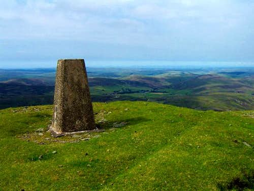 The summit trig point at...