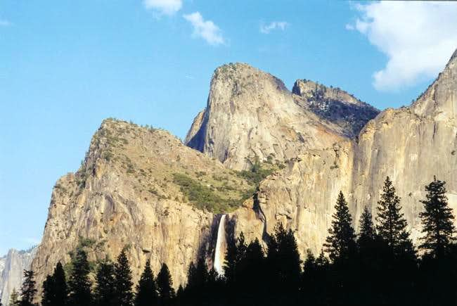 The Bridalveil Fall and the...