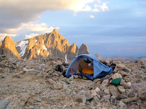 Camp on Bonney Pass,,,August...