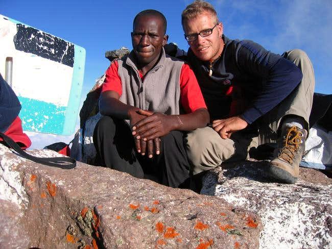 On the summit of Pt. Lenana,...