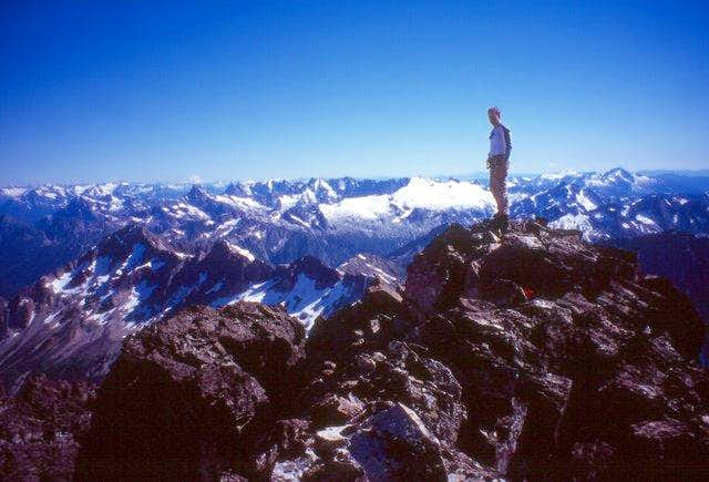 On the summit of Redoubt with...
