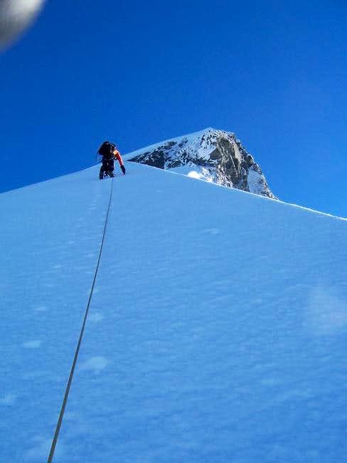 T Haines, on the ridge. K...