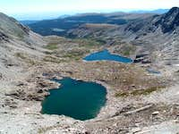 Looking down the Blue Lake...