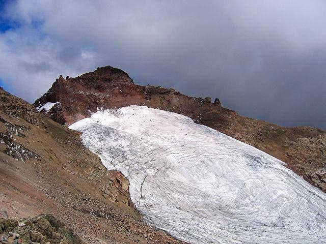 Pt. Lenana & Lewis Glacier as...