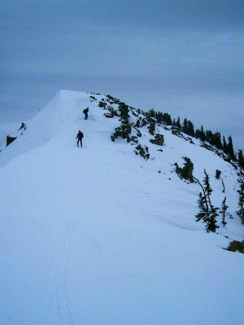 Descent from Norway Ridge...