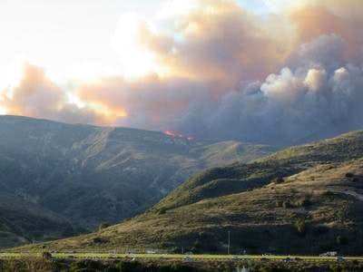 The Sierra fire burns out of...