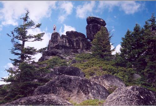 The granite rock formations...