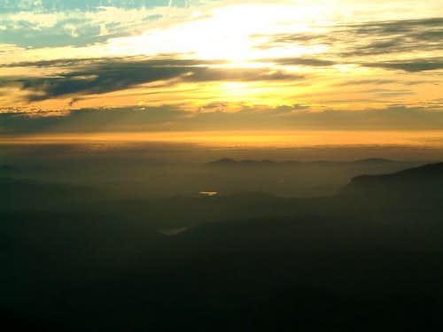 Top of the summit at Peak...