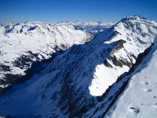 Parts of the E ridge (right...