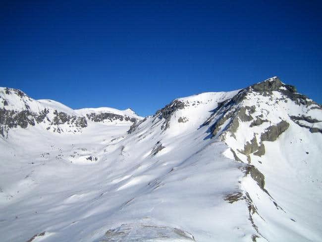 South ridge of Piz Dolf. View...