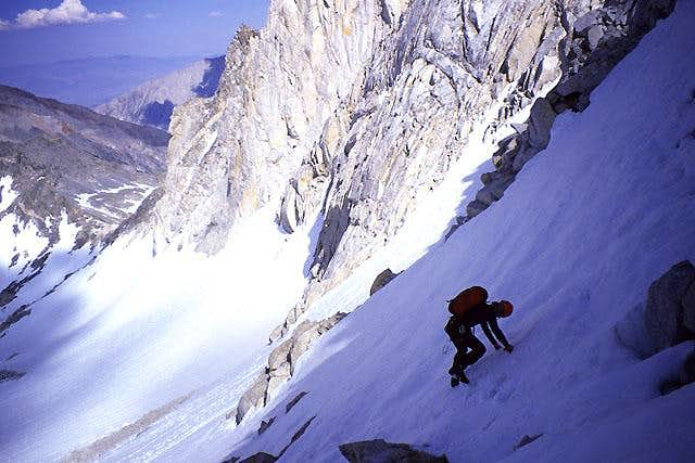 Descending snow after a climb...