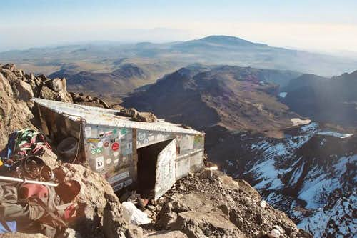 Howell\'s Hut on the summit of...