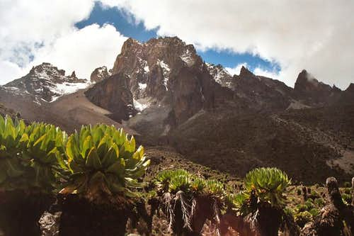 Summit of Mount Kenya seen...