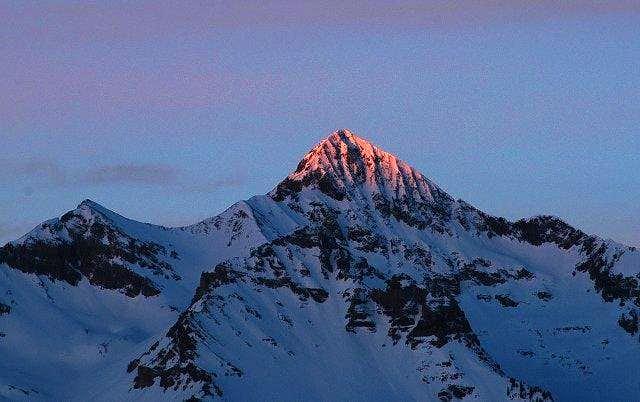 First light on Wilson Peak.