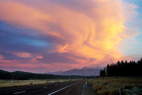Lenticular clouds over...