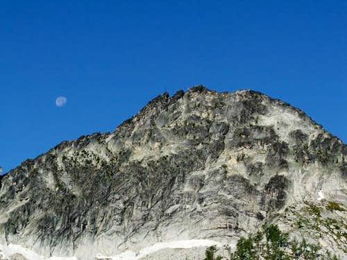 View of the peak. N ridge on...