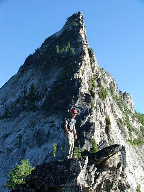 North ridge route follows...