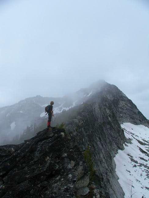 SE ridge, 6/26/05. Failed...