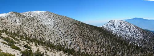 San Gorgonio Peak (left) and...