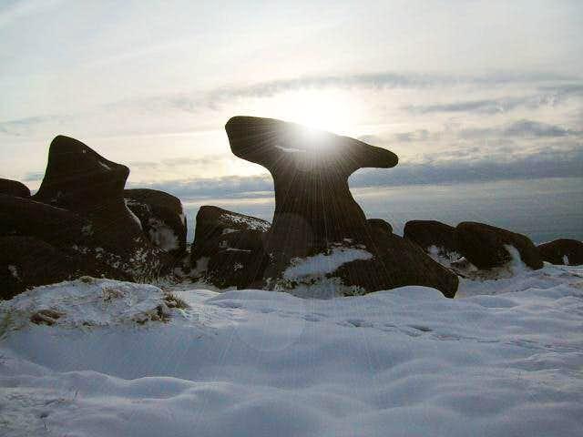 'Mushroom Rock' at Bleaklow...