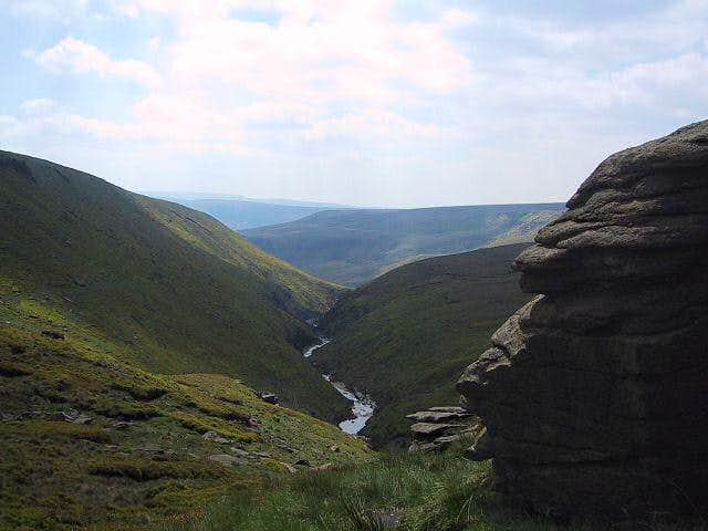 The view down Great Crowden...