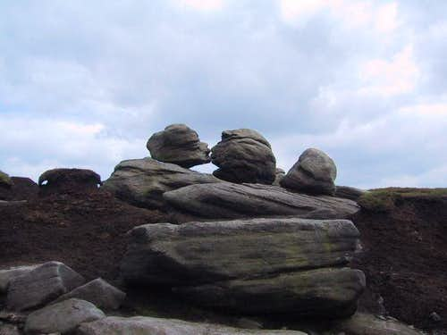 The 'Kissing Stones'. Part of...