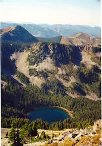 Looking down to Annette Lake.