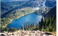 Rachel Lake seen from Rampart...