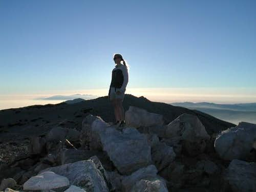 San Gorgonio sunset with San...