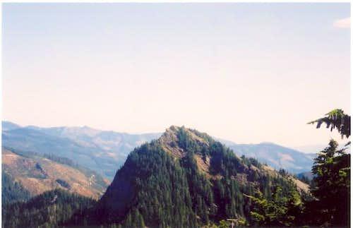 The wooded northwest ridge of...