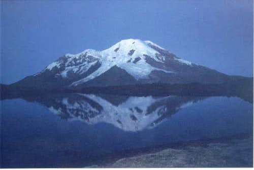 Chimborazo seen from the...