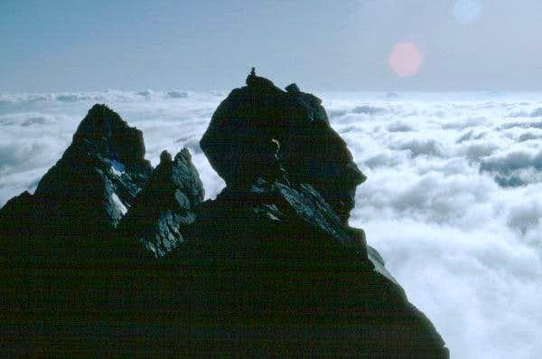 The summit ridge of Dome Peak...