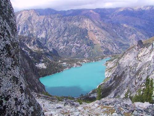 Looking down on Colchuck Lake...